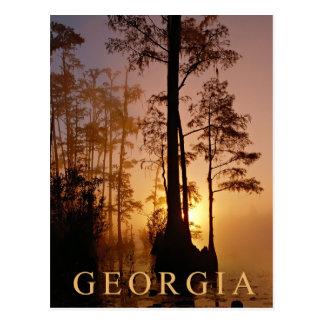 Sunset over the Okefenokee Swamp in Georgia Postcards