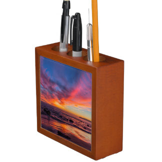 Sunset over the Pacific from Coronado 2 Desk Organiser