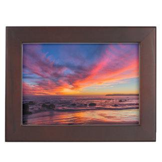 Sunset over the Pacific from Coronado 2 Keepsake Box