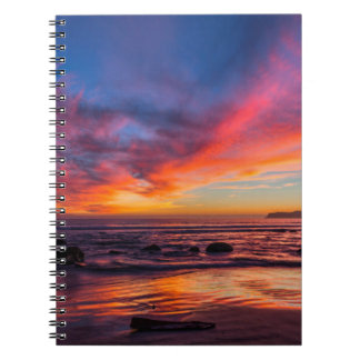 Sunset over the Pacific from Coronado 2 Notebooks