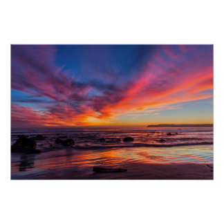Sunset over the Pacific from Coronado 2 Poster