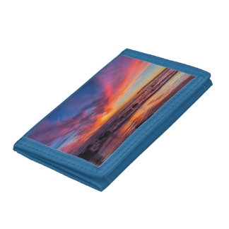 Sunset over the Pacific from Coronado 2 Tri-fold Wallet