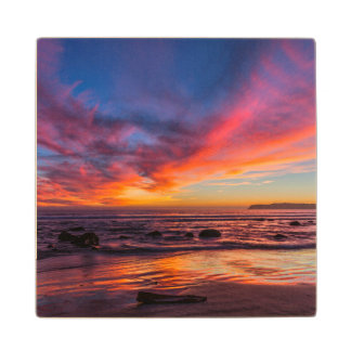Sunset over the Pacific from Coronado 2 Wood Coaster