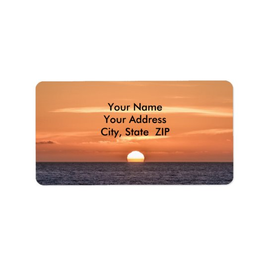 Sunset over the Pacific Ocean 2 Label