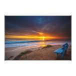 Sunset over the Pacific Ocean Gallery Wrapped Canvas