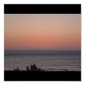 Sunset over the Pacific Poster