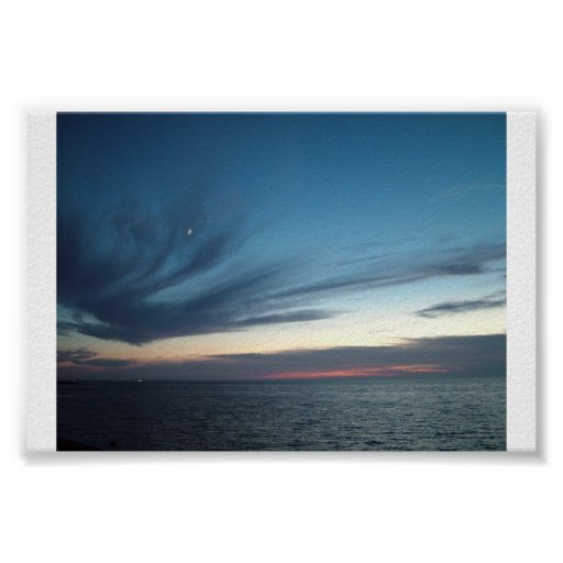 """""""Sunset Over the Pamlico Sound"""" Poster"""
