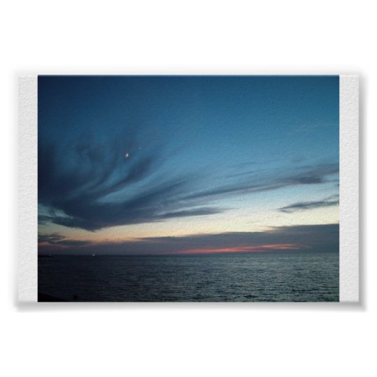 """Sunset Over the Pamlico Sound"" Poster"