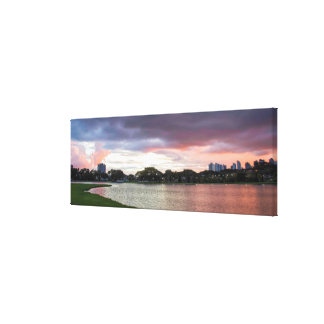 Sunset Over The Park Canvas Print