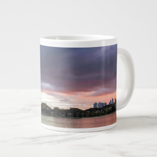 Sunset Over The Park Large Coffee Mug