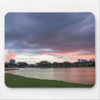 Sunset Over The Park Mouse Mat