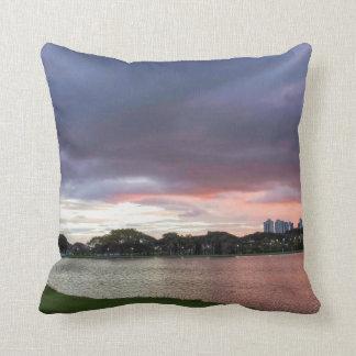 Sunset Over The Park Throw Pillow