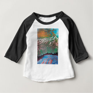Sunset over the Ridged Mountains Baby T-Shirt