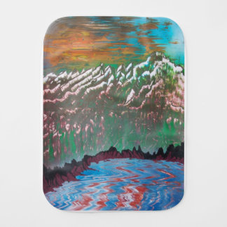 Sunset over the Ridged Mountains Burp Cloth
