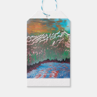 Sunset over the Ridged Mountains Gift Tags
