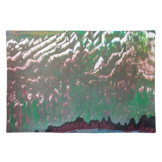 Sunset over the Ridged Mountains Placemat