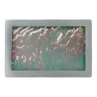 Sunset over the Ridged Mountains Rectangular Belt Buckles