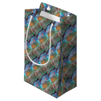 Sunset over the Ridged Mountains Small Gift Bag
