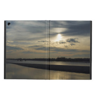 Sunset over the river iPad air case