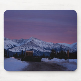 Sunset over the Rockies Mouse Pad