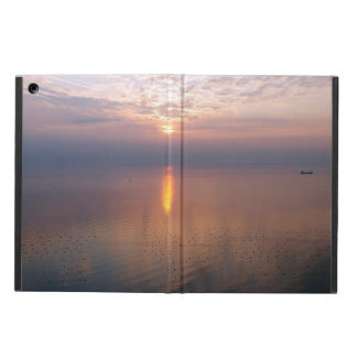 Sunset over the sea iPad air cover