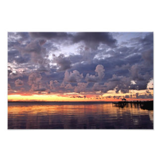 Sunset Over the Sound Photo Art