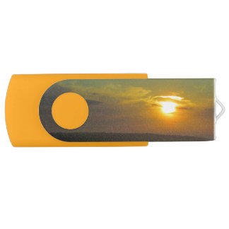 Sunset over the Straits Swivel USB Flash Drive Swivel USB 2.0 Flash Drive
