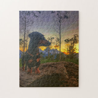 Sunset over the Tetons Jigsaw Puzzle