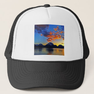 Sunset over the Tetons Trucker Hat
