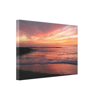 Sunset Over the Water Canvas Print
