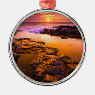 Sunset over tide pools, Hawaii Christmas Ornament