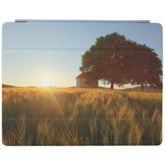 Sunset Over Wheat Field iPad Cover