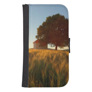Sunset Over Wheat Field Samsung S4 Wallet Case
