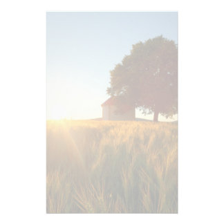 Sunset Over Wheat Field Stationery