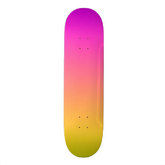 Sunset Overture Pink and Yellow Skateboard Deck