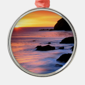 Sunset Pacific California Christmas Ornament