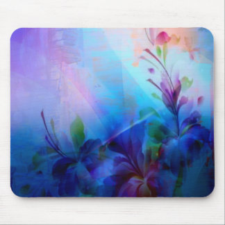 Sunset Painterly Floral Mouse Pad
