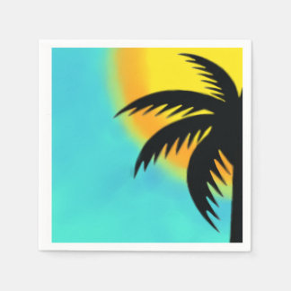 SUNSET PALM TREE NAPKINS PAPER NAPKIN