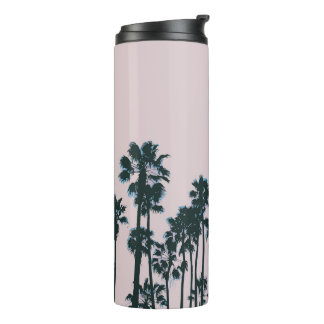 Sunset Palms and Coffee Thermal Tumbler