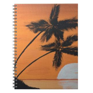 Sunset Palms Spiral Notebook