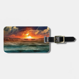 Sunset Panoramic Colours Tag For Luggage