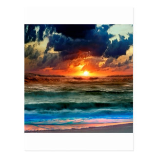 Sunset Panoramic Colours Post Cards