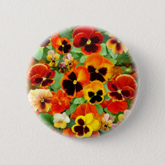 Sunset Pansies 6 Cm Round Badge
