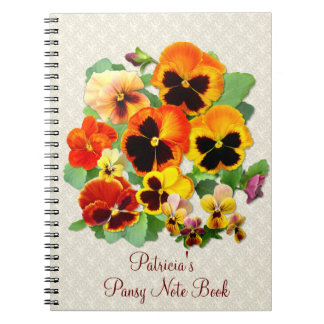 Sunset Pansies Notebook