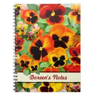 Sunset Pansies Notebooks