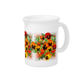 Sunset Pansies Pitcher