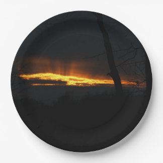 Sunset, Paper Plates. Paper Plate