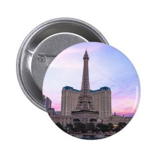 Sunset Paris Las Vegas Tour Eiffel Fake 6 Cm Round Badge