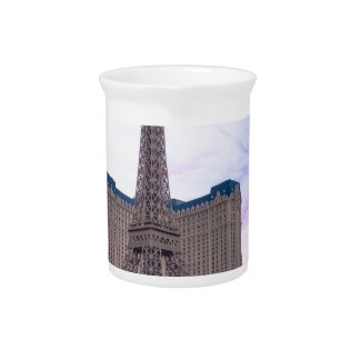 Sunset Paris Las Vegas Tour Eiffel Fake Beverage Pitchers