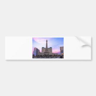 Sunset Paris Las Vegas Tour Eiffel Fake Bumper Sticker